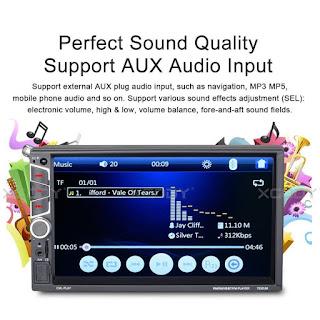 bluetooth autoradio stereo 2 din 7023um