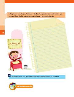 Apoyo Primaria Español 2do grado Bloque 2 lección 12 La versión final del instructivo del tambor