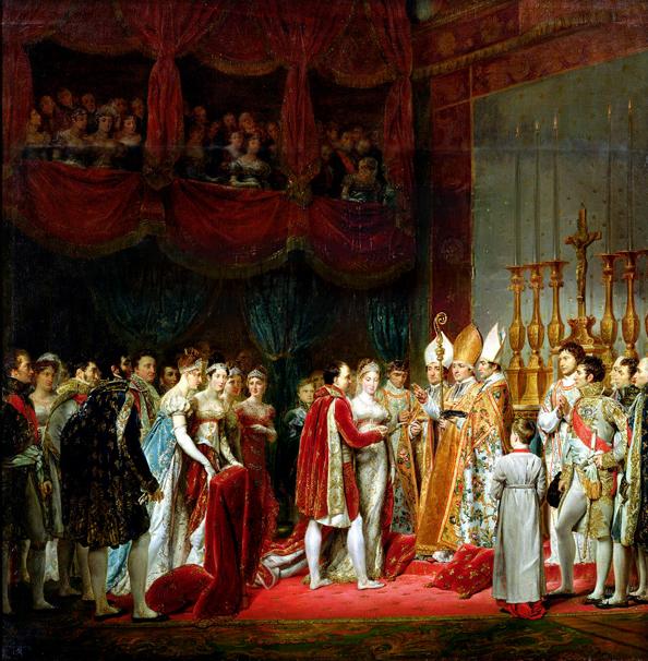 Mariage_religieux_Napoleon_Marie-Louise_Salon_carre_Louvre_ Georges_Rouget_Versailles