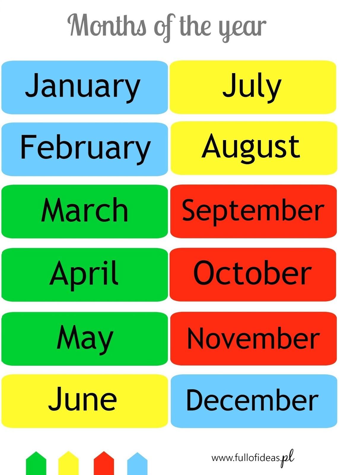 4 Seasons 12 Months Head Full Of Ideas
