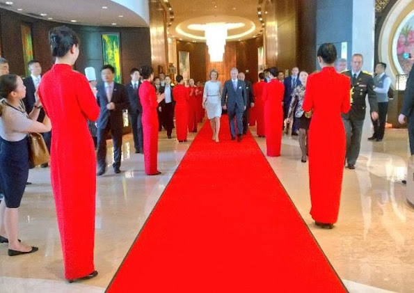 Queen Mathilde of Belgium visits Shenzhen University (SZU) in Shenzhen