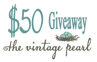 $50 giveaway from The Vintage Pearl