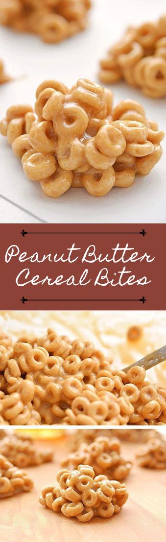 Peanut Butter Cereal Bites #desserts #cakerecipe