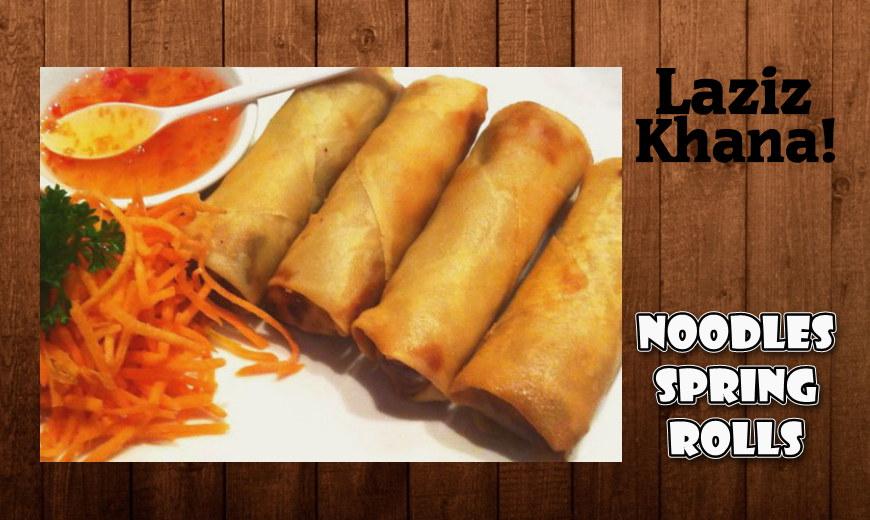नूडल स्प्रिंग रोल बनाने की विधि - Noodles Spring Rolls Recipe in Hindi