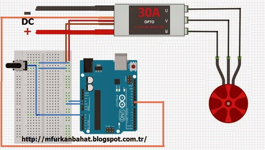 Brushless Motor Control with Arduino | M Furkan Bahat