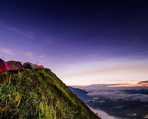 Tinuku.com Travel Mount Andong sunrise camping summit watching ten most legendary mountain in Indonesia