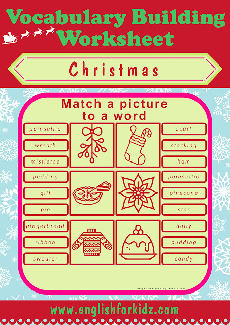 Free printable Christmas matching worksheets