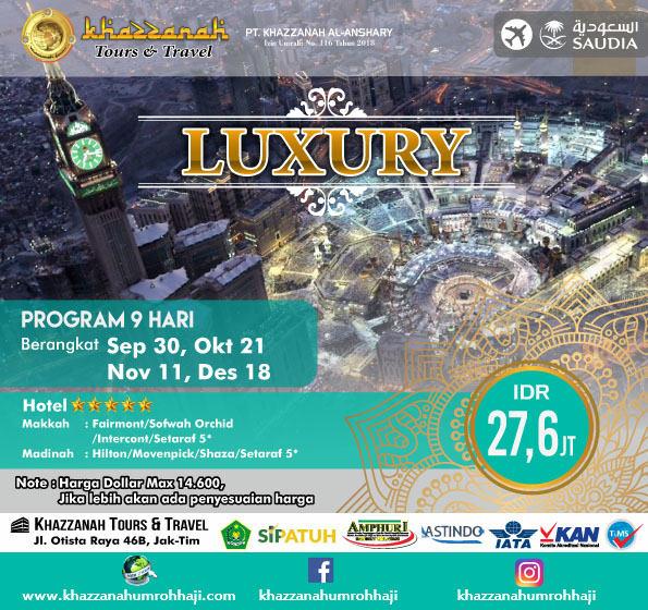Paket Umroh November Bintang 5