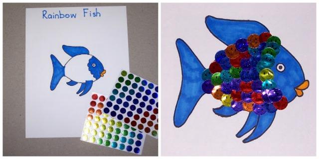 Cuento el pez arcoiris 12 actividades y manualidades for Actividades con cartulina para ninos