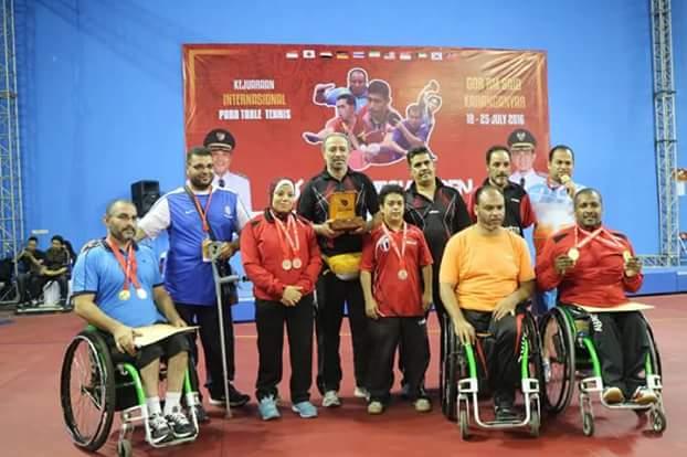 أبطال منتخب مصر للتنس طاوله للاعاقات الحركية يتوجوا فى بطولة اندونيسيا الدولية
