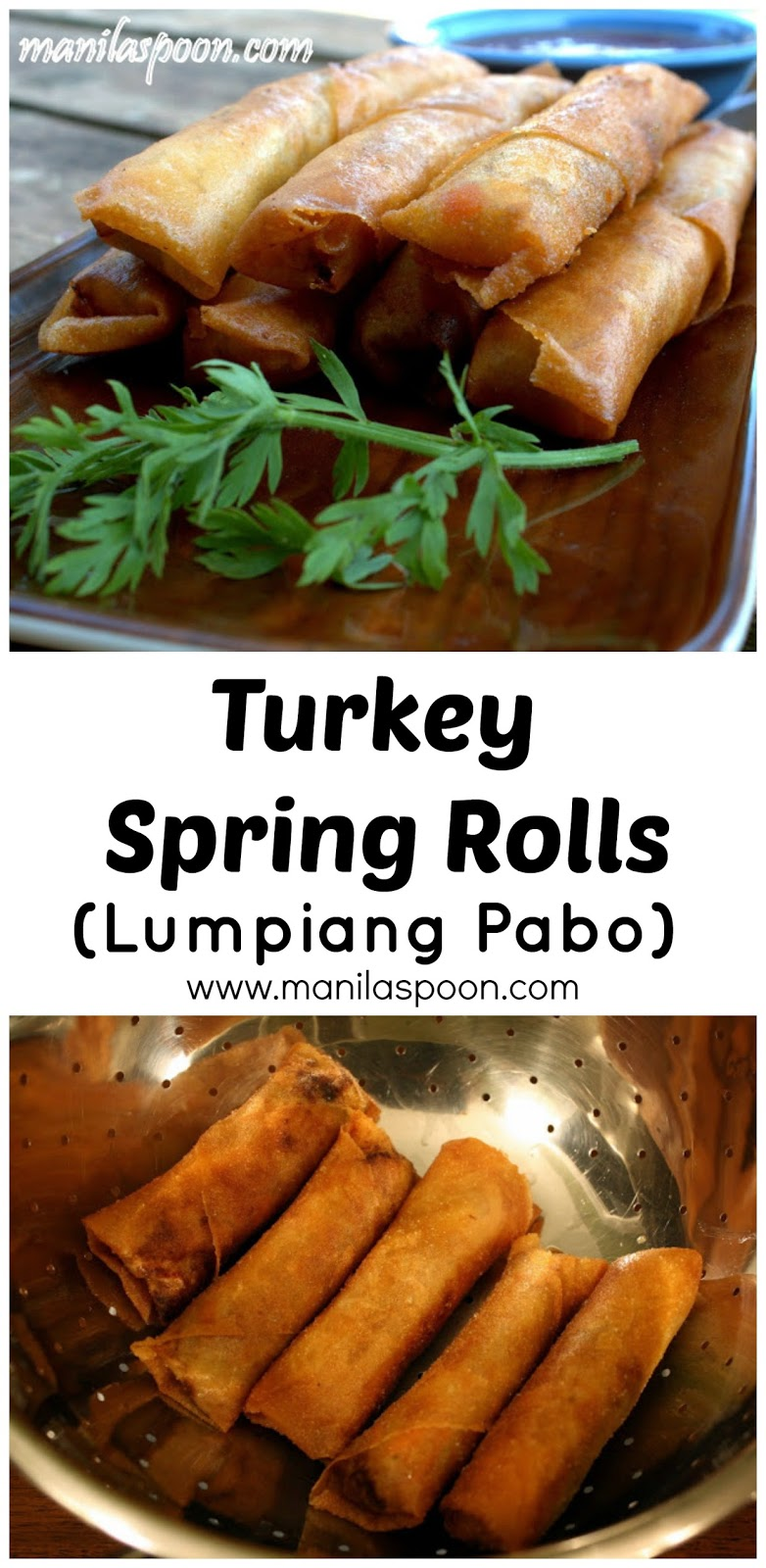 For a healthier and low-fat version of spring rolls that tastes so good, too - Turkey Spring Rolls is the best option. Perfect for Thanksgiving left-overs, too.