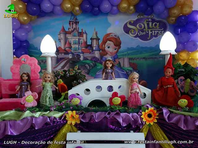 Mesa decorada Princesa Sofia - Festa infantil