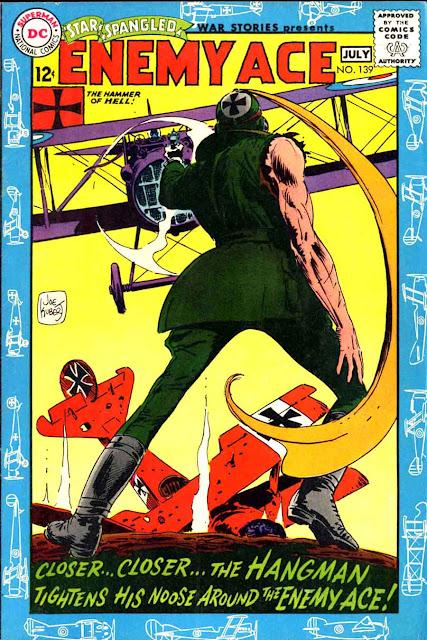 Star Spangled War v1 #139 enemy ace dc comic book cover art by Joe Kubert