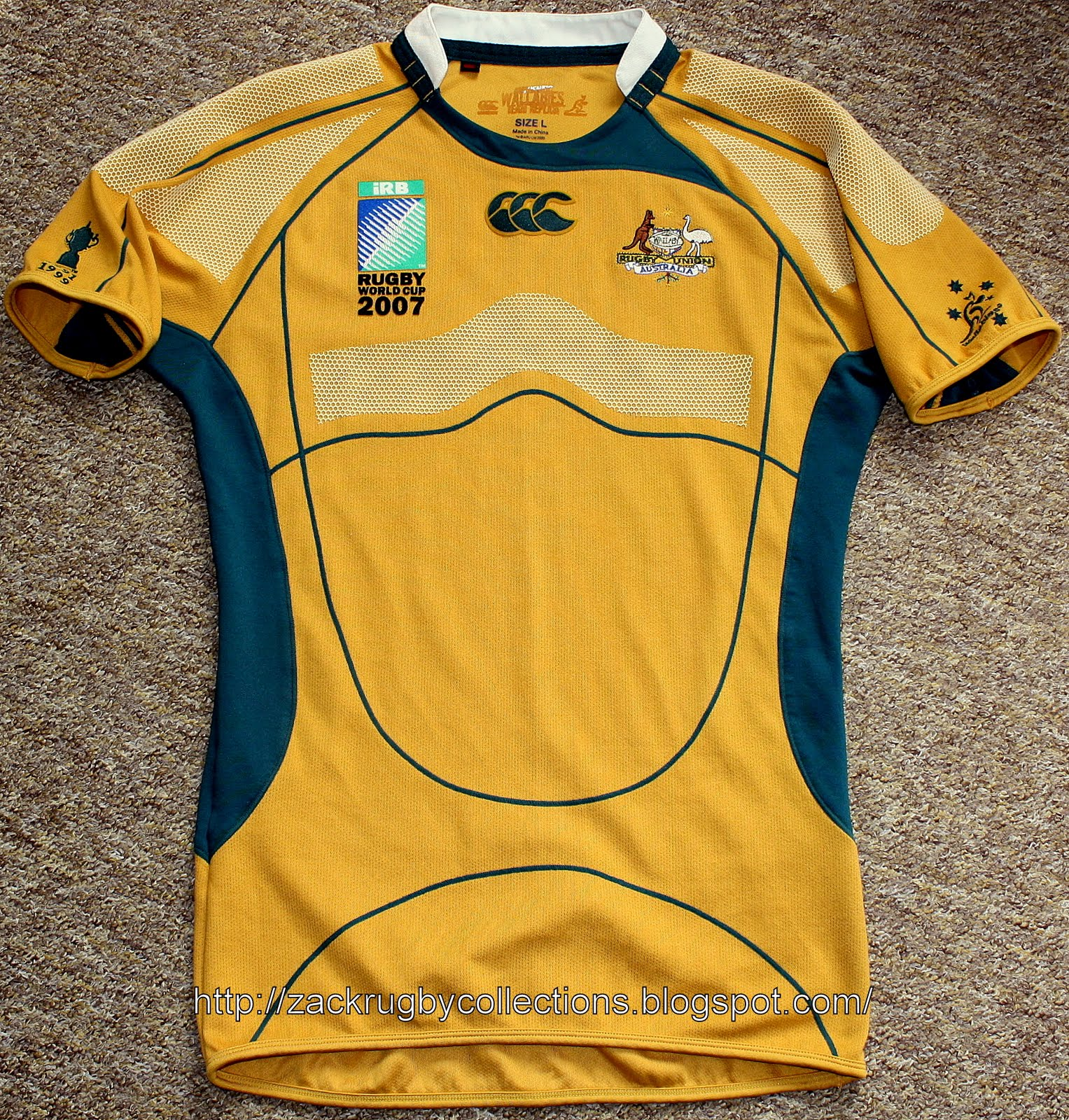 a06901757cc Special Edition: Australia Test (Player Issue) Rugby World Cup 2007 Jersey
