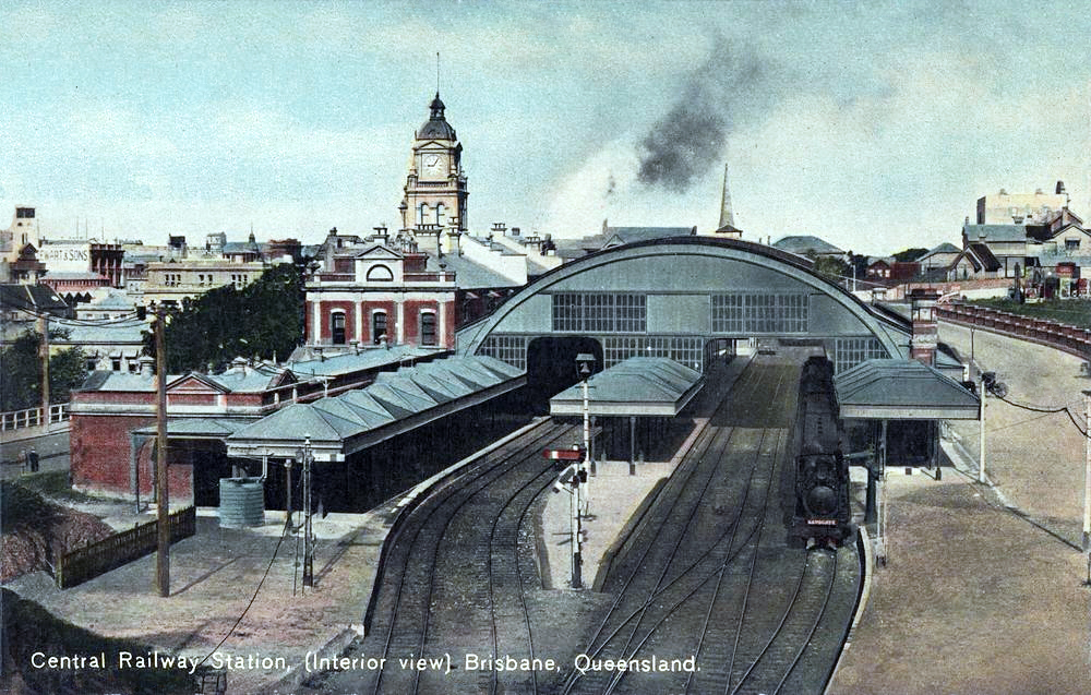 Transpress Nz Brisbane Central Station Queensland 1911