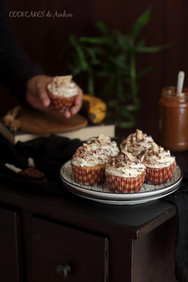 Cupcakes Banoffee Pie. Cookcakes de Ainhoa.