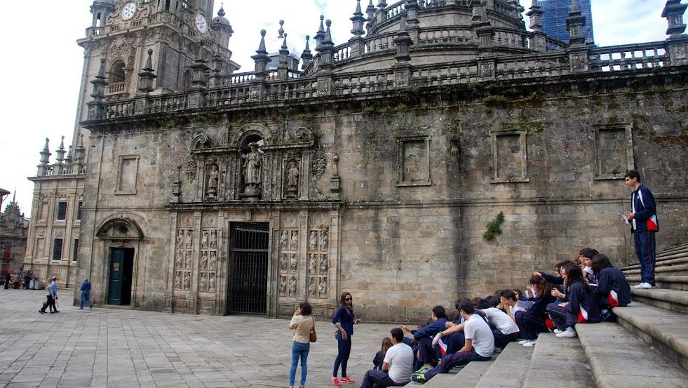 Plaza de la Quintana.  Santiago de Compostela