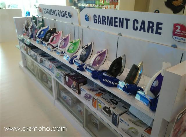 philips experience store, philips bayan baru, kedai barangn elektrik bayan baru penang, philips iron,