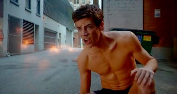 Grant Gustin en calzones para The Flash 1x05 - Plastique