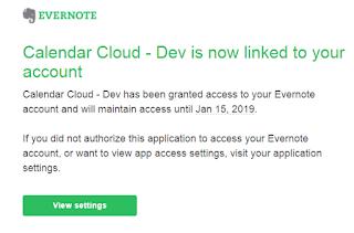 evernote calendar cloud oauth