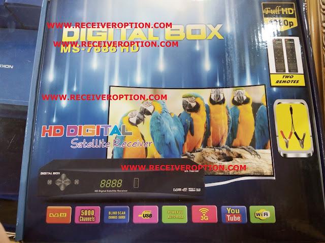DIGITAL BOX MS-7888 HD RECEIVER POWERVU KEY NEW SOFTWARE