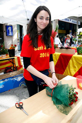 Sant Jordi flores