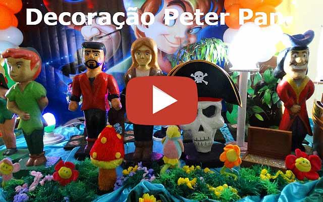 Decoração de aniversário Peter Pan - Mesa luxo