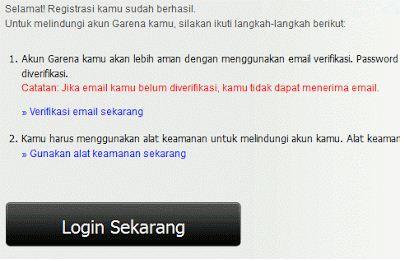 Cara Daftar PB Garena Indonesia