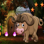 Games4KIng Cute Buffalo Rescue