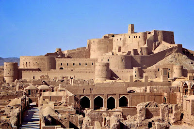 The beautiful Bam Citadel in Kerman province. This is known as the biggest adobe monument of the world.
