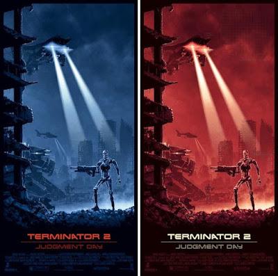 Thought Bubble 2017 Exclusive Terminator 2 Judgement Day Movie Poster Screen Print by Matt Ferguson x Vice Press