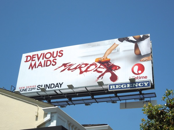 Devious Maids season 1 Murder billboard