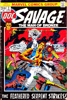Doc Savage v2 #2 marvel bronze age comic book cover art by Jim Steranko