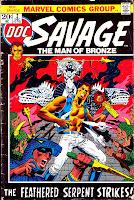Doc Savage v2 #2 marvel bronze age comic book cover art by Jim Steranko