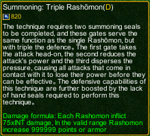 naruto castle defense 6.0 Triple Rashomon detail
