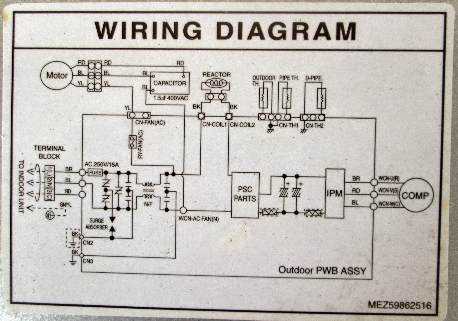 Wiring Diagram Ac Split Daikin Inverter