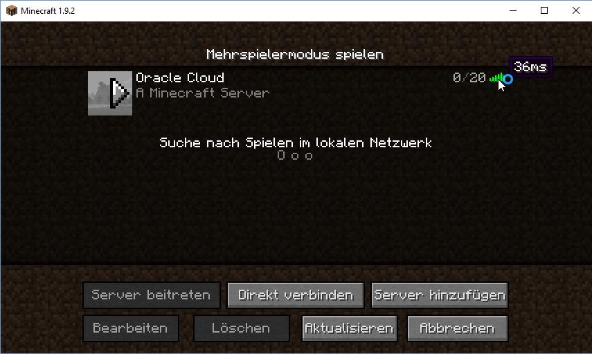 Arnes Tech Stuff How To Run A Minecraft Server In The Oracle Cloud - Minecraft server erstellen raspberry pi