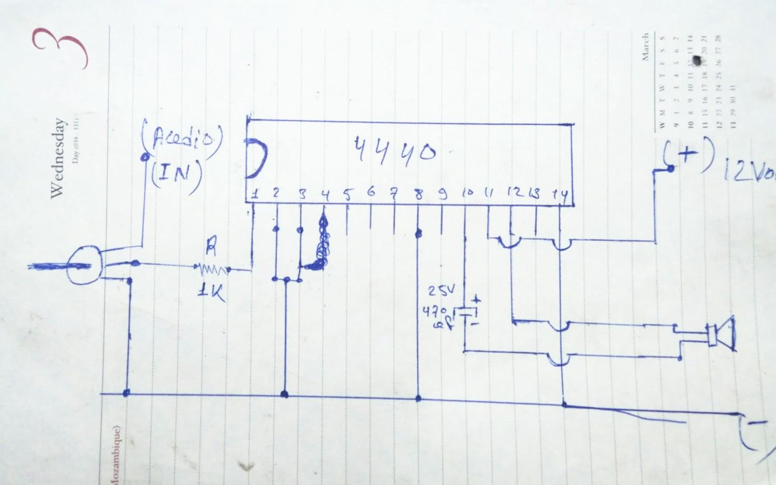 La4440 Audio Amplifier 40watt Without Pcb Rk Electronics Project And Video Diagram Electronic Design Ic Circuit Ku Kui Bhi Bana Shakta Hai Neeche