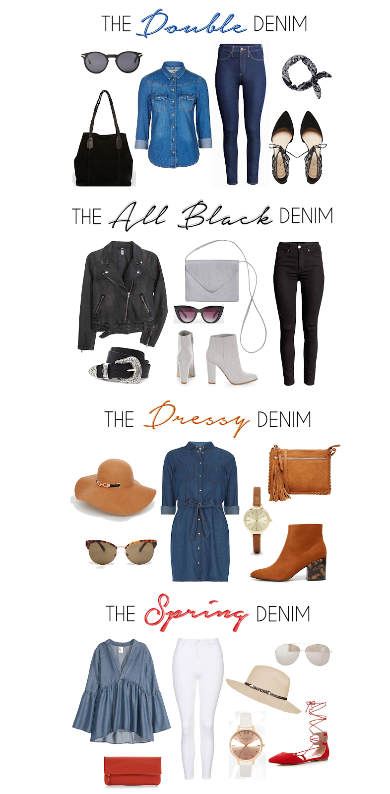 different denim fashion blogger styles denim outfits