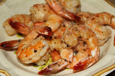 Jumbo shrimp, tossed in a seasoned olive oil mix and oven roasted.