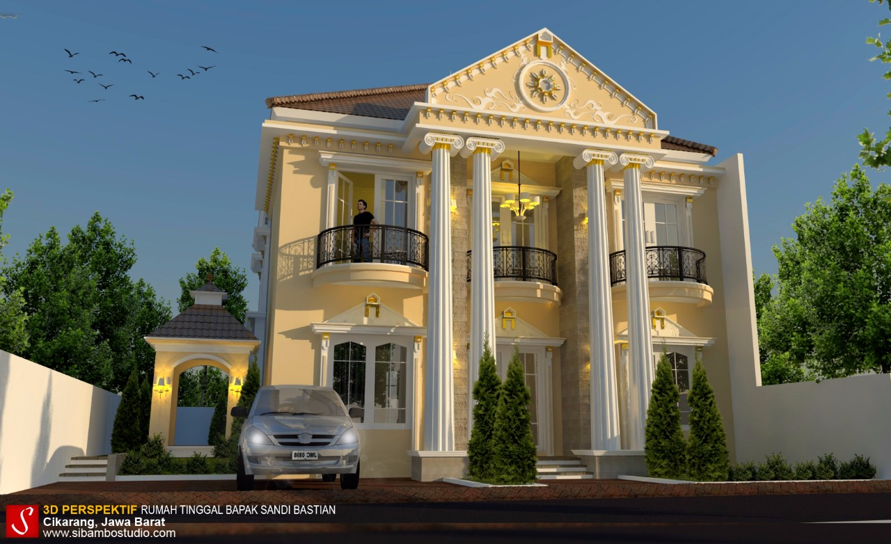 Desain Rumah Bergaya Mediterania Klasik 15 X 20 M Ini Serasa Masuk