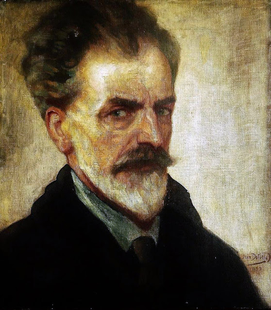 Jean Delville, Self Portrait, Portraits of Painters, Fine arts, Portraits of painters blog, Paintings of Jean Delville, Painter Jean Delville