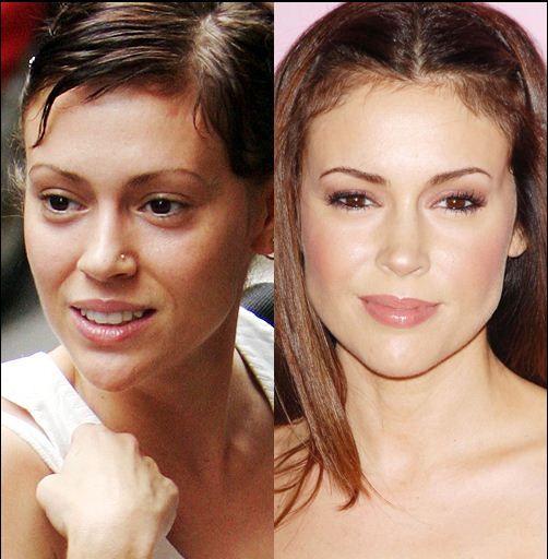Without Makeup Celebrities Alyssa Milano Without Makeup