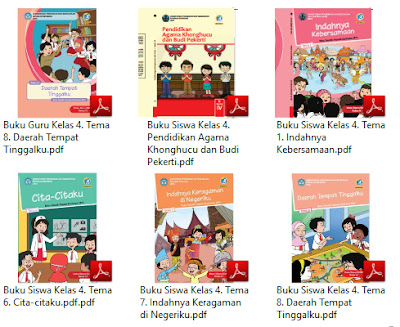 Buku Kurikulum 2013 SD Kelas 4 Tema Daerah Tempat Tinggalku Revisi 2017