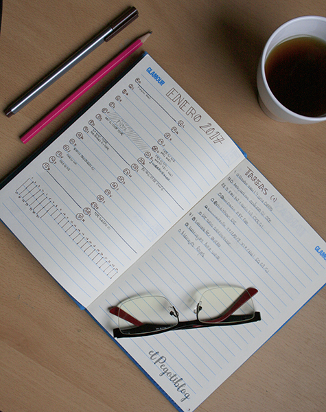 Bullet Journal: la estructura básica registro mensual, monthly log - Crea tu Bullet Journal con el Pegotiblog