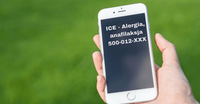 Numer ICE w telefonie - konieczny nie tylko przy alergii