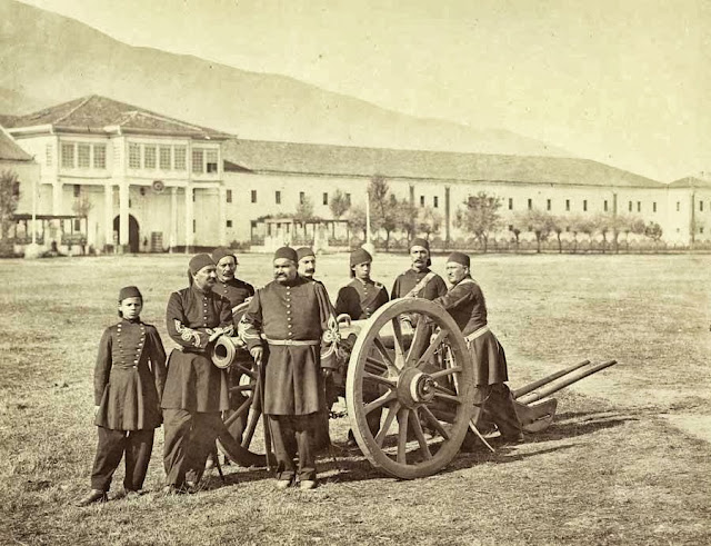 Bitola group of Ottoman artillerymen October 1863