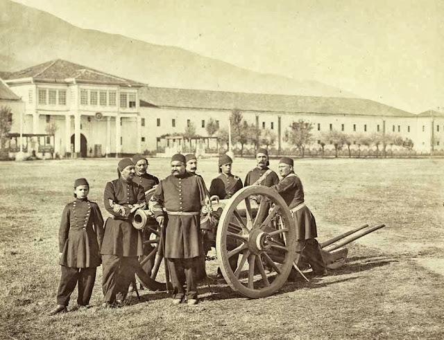 Bitola group of Ottoman artillerymen October 1863