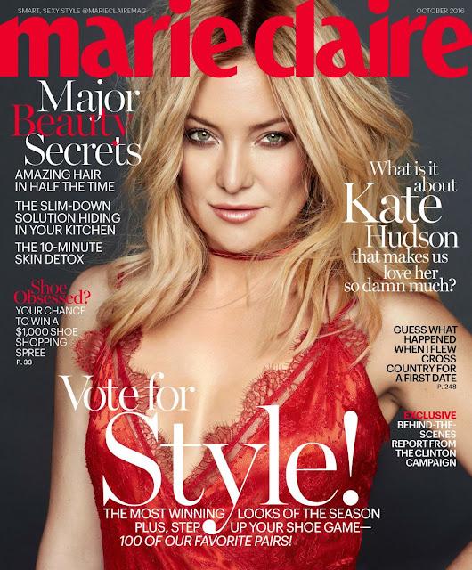 Actress, @ Kate Hudson - Marie Claire US, October 2016