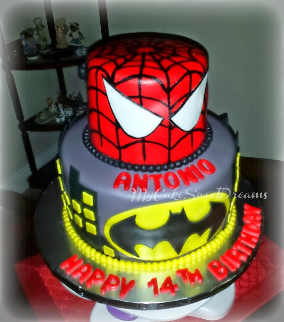coloring pages batman spiderman cakes - photo#22